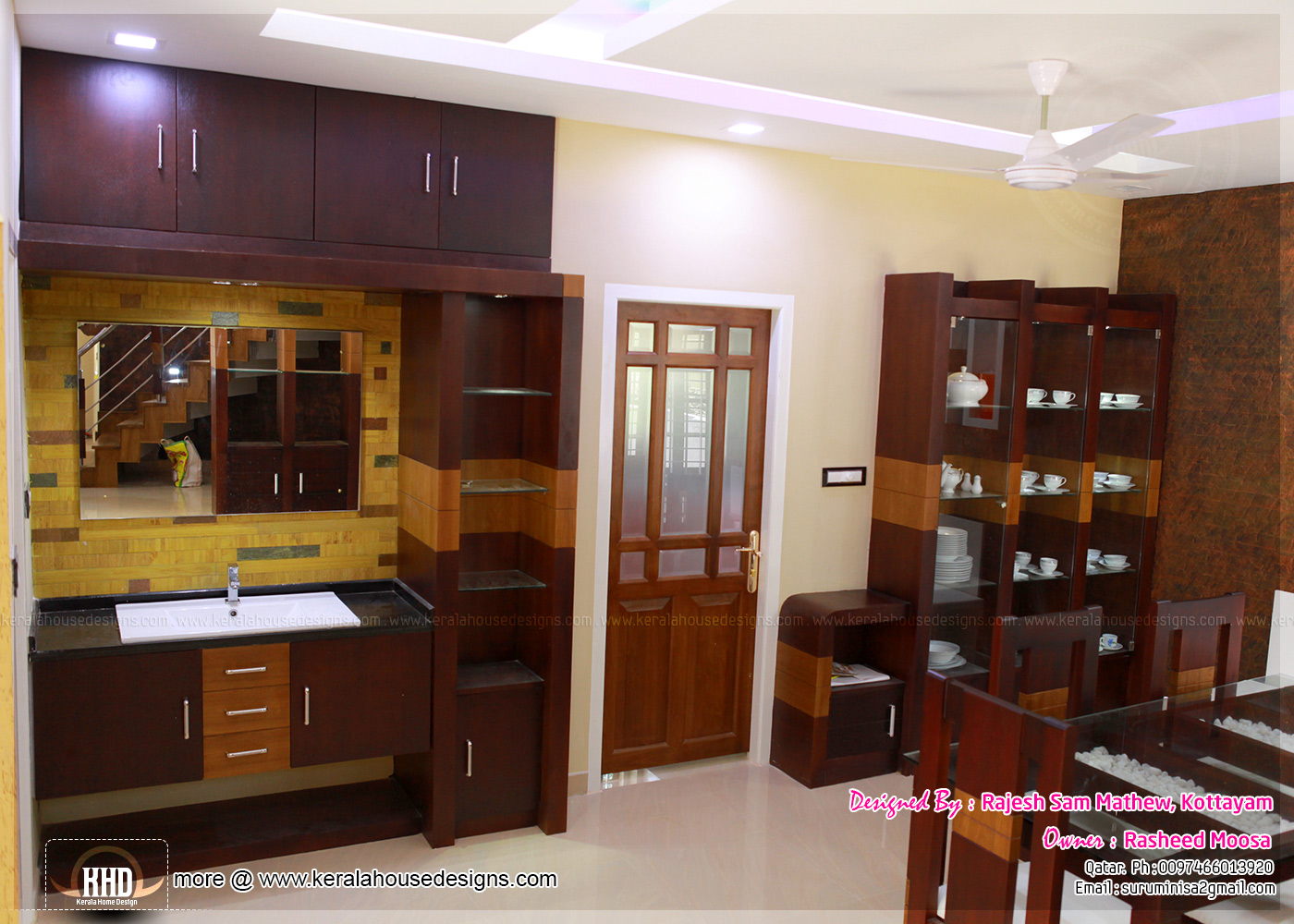 Kerala interior design with photos indian house plans for Kerala model interior designs