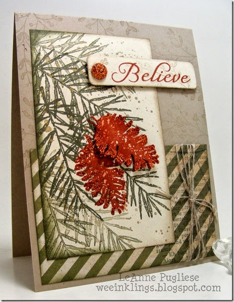 LeAnne Pugliese WeeInklings Believe in Peaceful Wishes Christmas Stampin Up