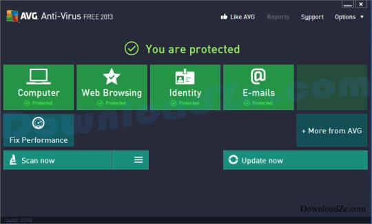 AVG AntiVirus Free 2017 (32/64 bit)