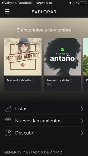 Spotify en iOS