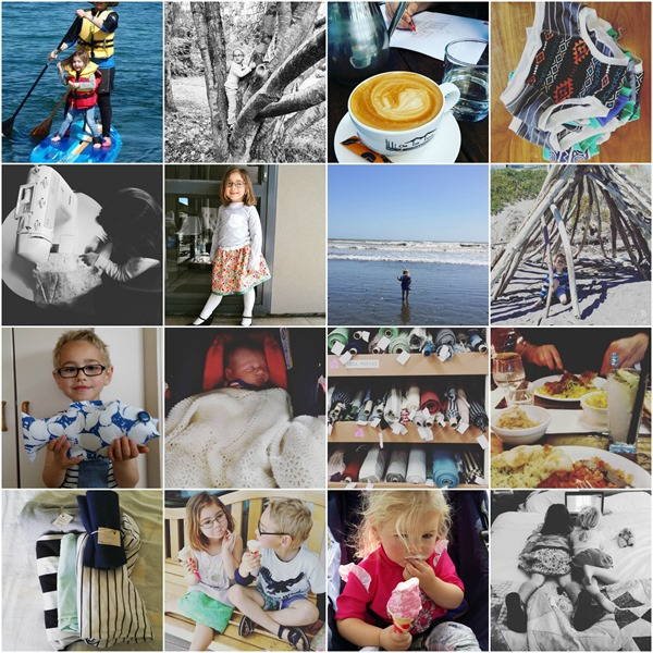 School holidays collage