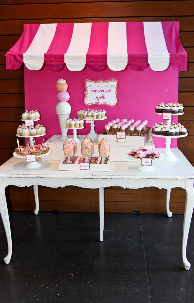 ice cream shop wedding dessert