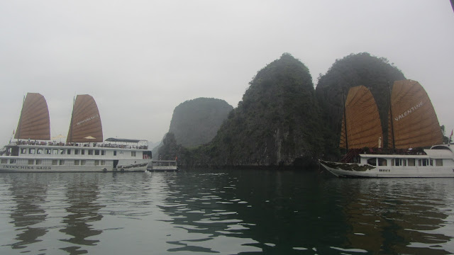 The Vietnamese government recently required all boats in Ha Long Bay to be painted white, covering lots of beautiful woodwork. Rumor has it one of the politicians runs a white paint factory.