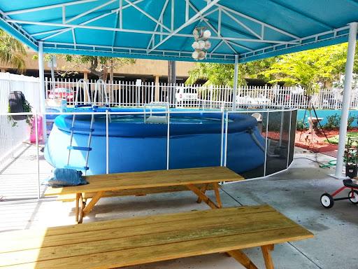 Black/White Pool Fence on Above Ground Pool | Doral, Florida