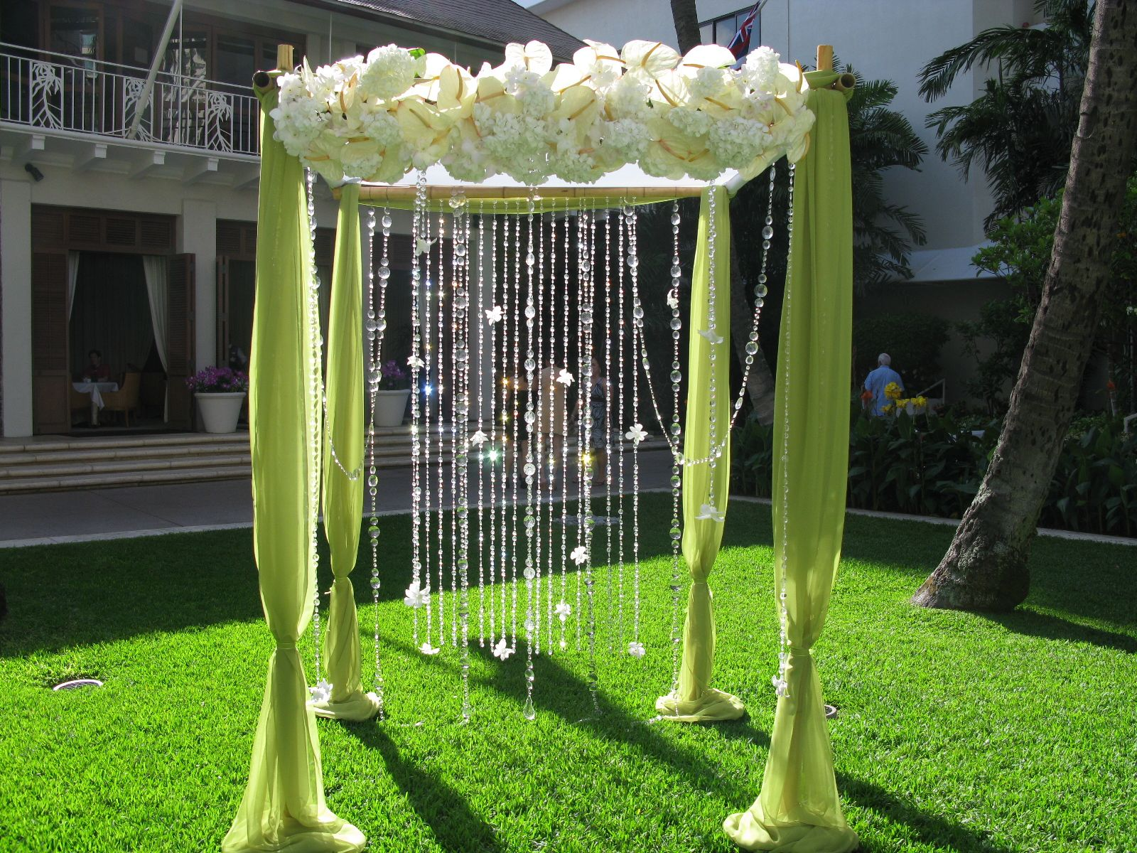 diy wedding arbor