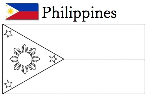 Geography Blog Philippines Flag Coloring Page Philippines Flag Coloring Page