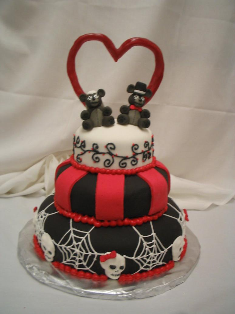Goth Wedding Cake by