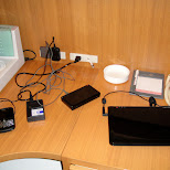charging my gear at the hotel in Osaka, Osaka, Japan