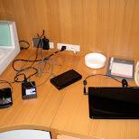 charging my gear at the hotel in Osaka, Osaka, Japan