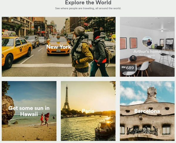 Airbnb Explore the world