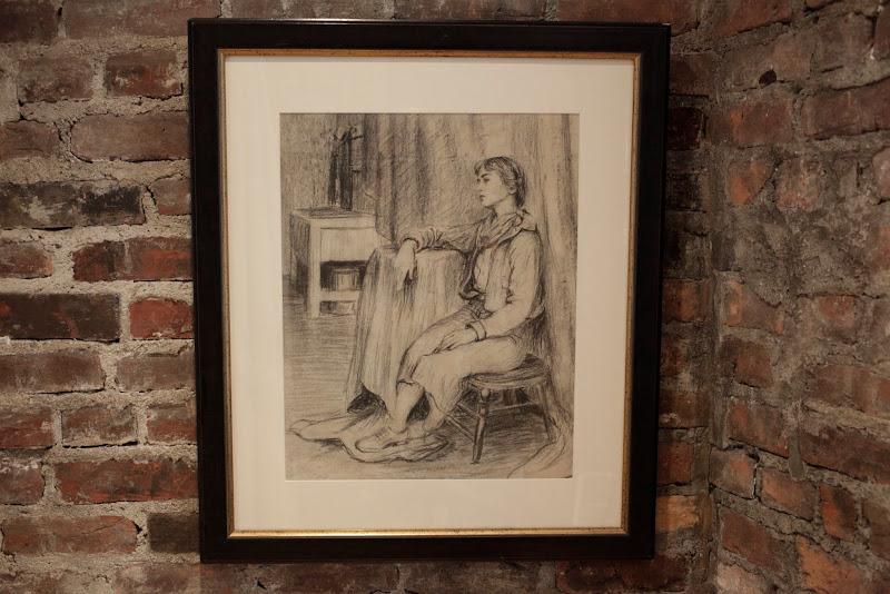 Large Charcoal Drawing Portrait