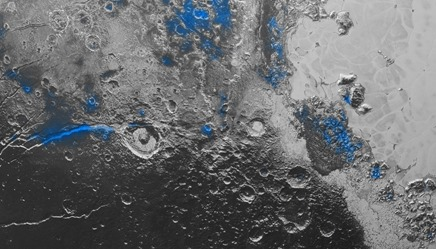 água em Plutão