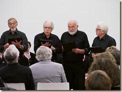 Boudewijn laat zingen: Boudewijn Knevels, 50 jaar dichter en schrijver. Drie liederen door het Norma-kwartet. Piano: Willy Appermont.