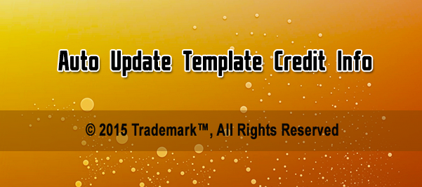 autoupdate credits info in template footer