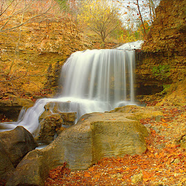 TANYARD FALLS by Dana Johnson - Landscapes Waterscapes ( waterscape, autumn, cascade, falls, landscape )