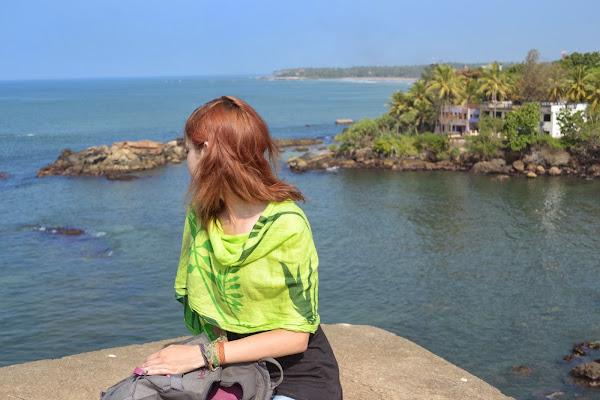 девушка, океан