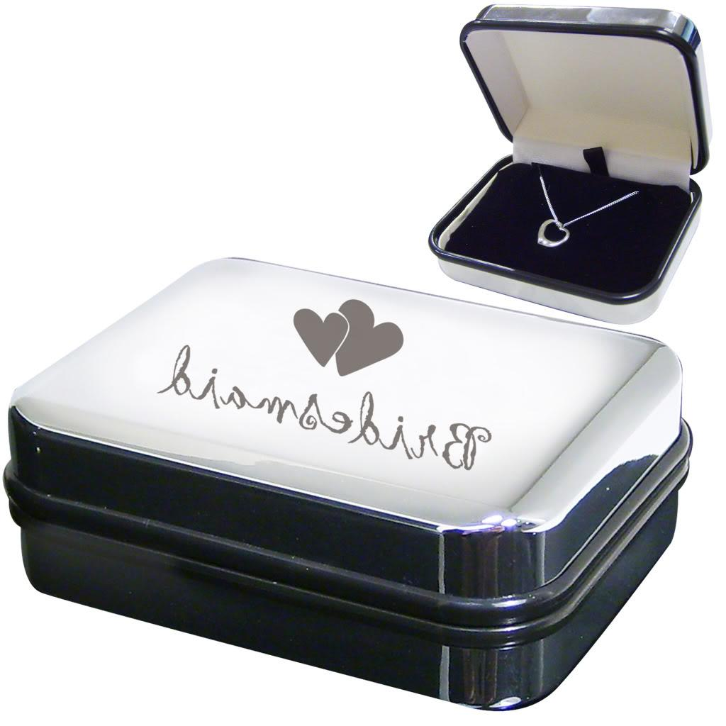 STERLING SILVER WEDDING THANK YOU GIFT Mother Of Groom Heart Necklace & Box