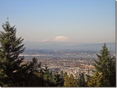 IMG_9262 View of Mount Rainier and Mount Saint Helens from Council Crest Park in Portland, Oregon on October 23, 2007