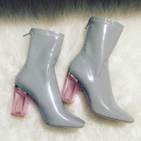 chloe replica purses - Fashion Addict : Patent leather glass heel booties