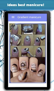Gradient manicure - screenshot