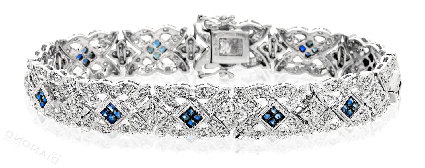 Sapphire & 1.50CT Diamond