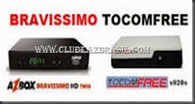 AZBOX BRAVISSIMO TWIN ATULIZAÇÃO TOCOMFREE 3.30 DESTRAVADA