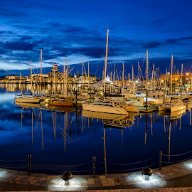 Blue Hour  by Arvic Agda - Transportation Boats ( boats, buehour, d7000, victoria, british columbia, yachts )