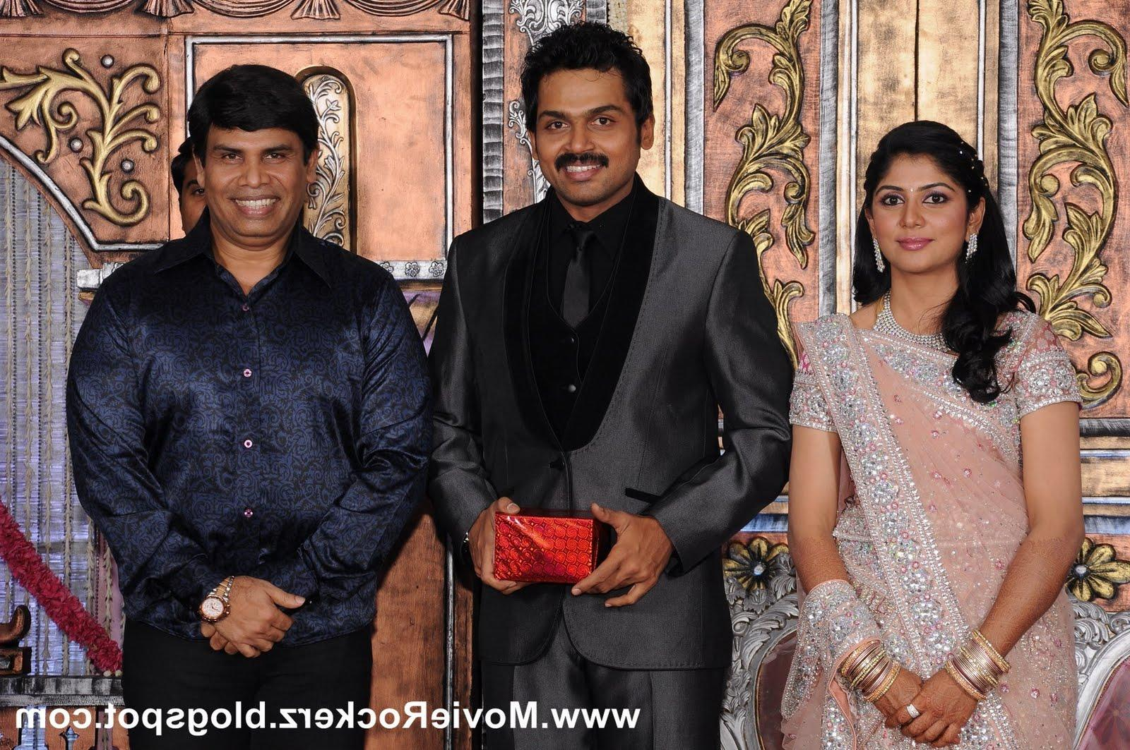 The Wedding Reception Of Karthi Sivakumar And Ranjini - NTR Fanz Discussion
