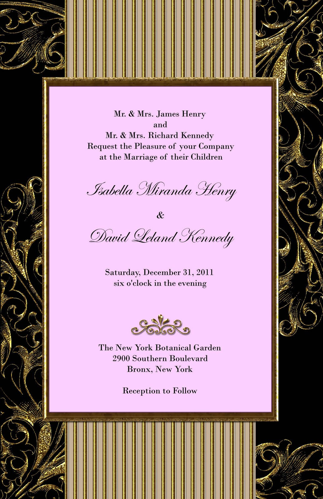 Dacia\'s blog: golden wedding invitation