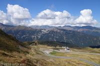 Kurz vor dem Scheitel des Jaufenpass (2094m). Die Nordrampe von Sterzing herauf.