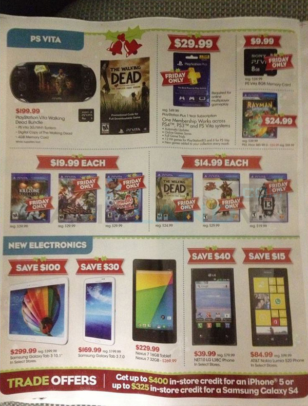 Lộ bảng giá khuyến mãi của GameStop dịp Black Friday 6