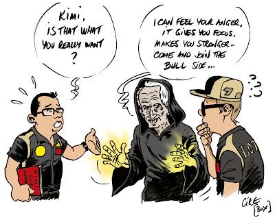 Кими Райкконен раздумывает о продолжении карьеры - комикс Cirebox