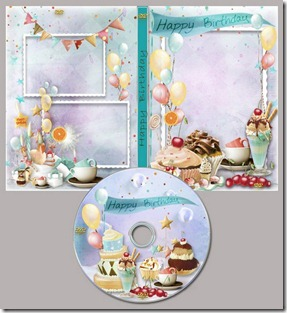 Happy Birthday DVD cover template 1