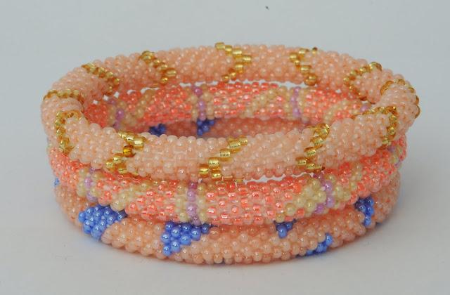 Orange Pink range bracelets
