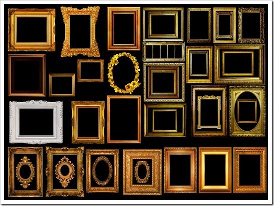 Luxury golden color Frames