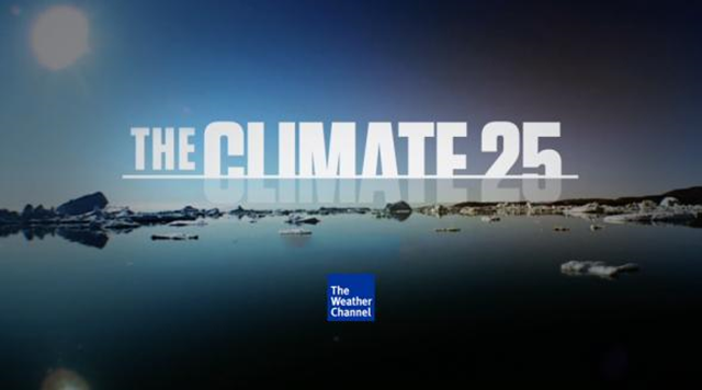 On 10 June 2015, the Weather Channel launched a dramatic campaign it says is intended to help shift the climate change conversation from science to solutions. The series of short videos, called 'Climate 25', is surprisingly political for a venue like the Weather Channel, and most are aimed at making the case for urgent action from a conservative, Republican angle. Photo: The Weather Channel