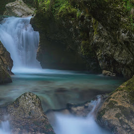 by Leni Ozis - Landscapes Waterscapes ( water, šunik, park, nature, triglav national park, lepena, waterfall, slovenia, water hurst )