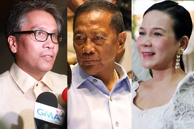 Image of Binay, Poe, and Roxas