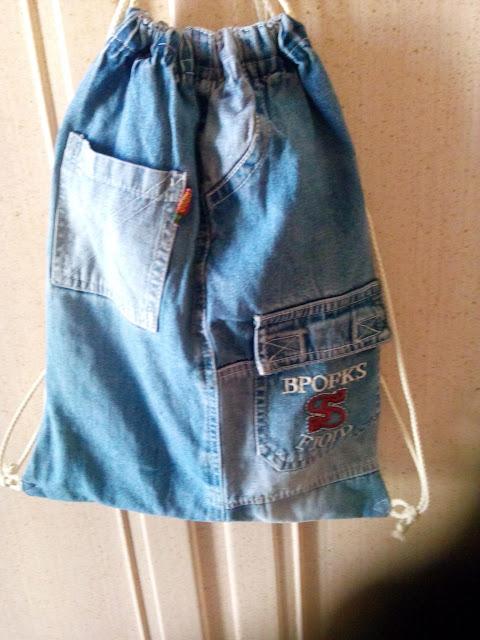 Kreomaniart borsa e zainetto jeans for Borse fai da te jeans