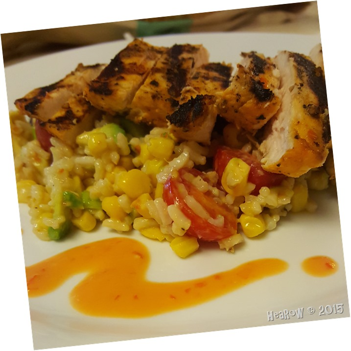 grilled chicken barly corn salad