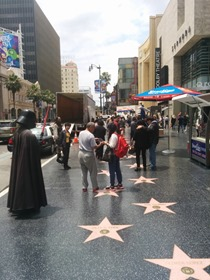 Typical day on the Hollywood Walk of Fame