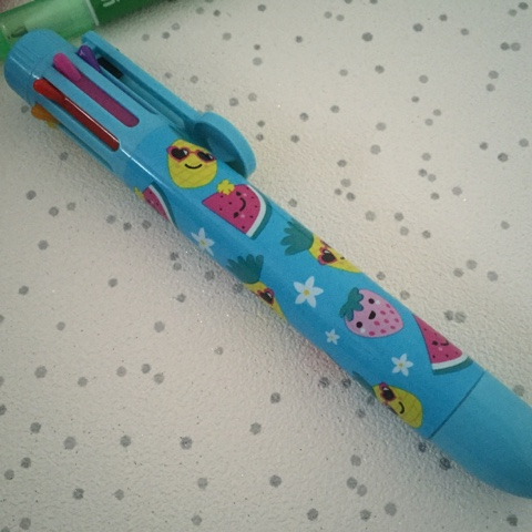 smiggle yums rainbow pen