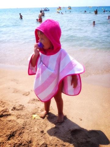 toalla para niños que no caen