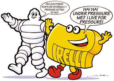 старые друзья Pirelli и Michelin - комикс Jim Bamber