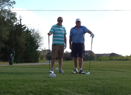 Kevin and Korey Golf in Lincoln