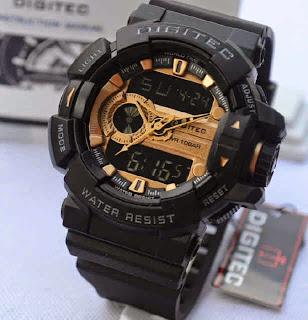 Jual jam tangan Digitec 2080T black rubber