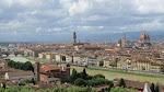Palazzo Vecchio in the center, Duomo on right