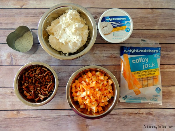 Creamy Ranch Cheese Ball Appetizer Recipe - 2 Weight Watchers PointsPlus #SmarterTreats ingredients