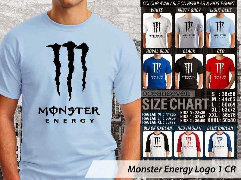 KAOS Monster Energy Logo Otomotif distro ocean seven