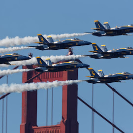 Blue Angels 750 by Raphael RaCcoon - Transportation Airplanes ( blue angels )